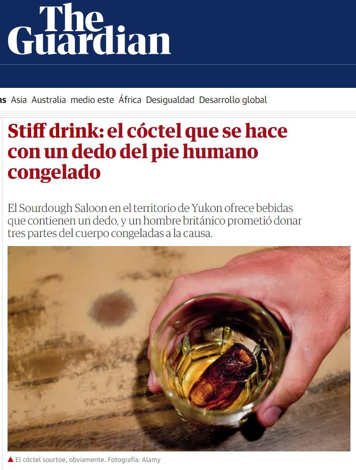 Juanito Oiarzabal es donante de cócteles