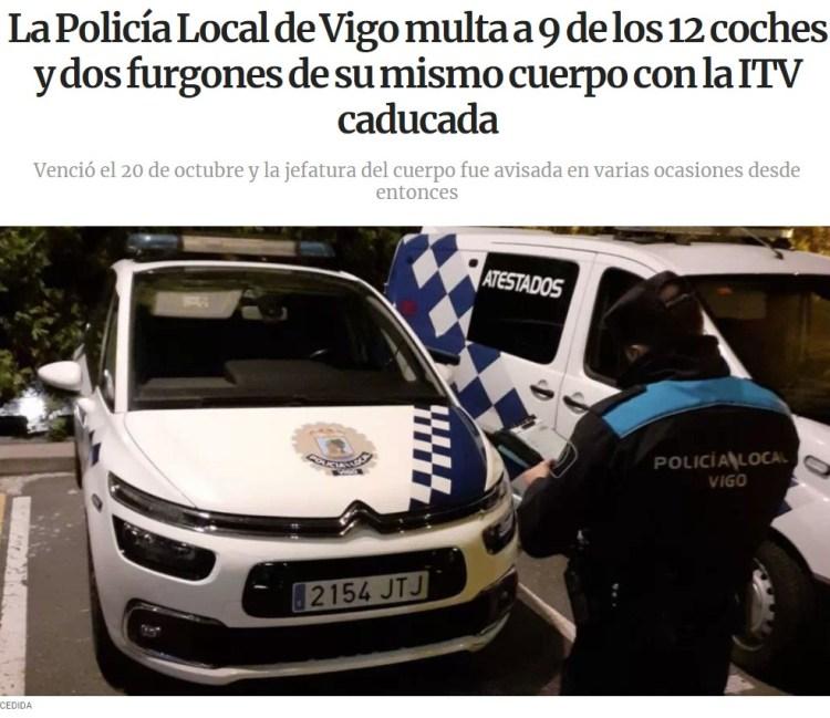 La policía local de Vigo multa a... la policía local de Vigo