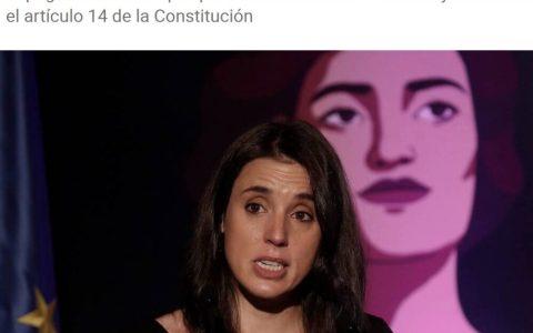Tumban un contrato del MINISTERIO DE IGUALDAD por vulnerar el artículo 14 de la constitución, en el que se dice que todos los españoles somos IGUALES ANTE LA LEY