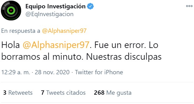 Los de Equipo de Investigación se la tienen jurada a AlphaSniper
