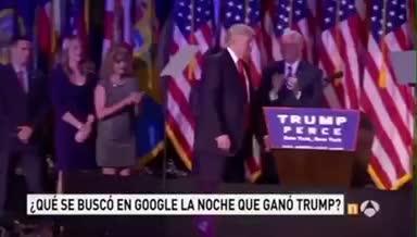 ¿Qué buscó la gente en Internet cuando ganó Trump?