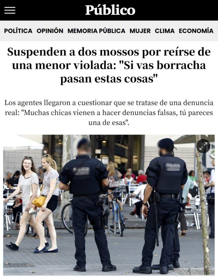 """El titular se olvida de un pequeño detalle: """"los"""" dos agentes eran MUJERES"""