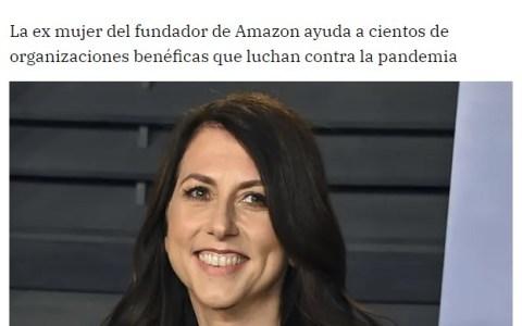 La mujer más rica del mundo ha donado la mitad de la fortuna que amasó tras su divorcio de Jeff Bezos