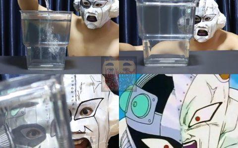 Espectacuar cosplay de cuando Trunks parte por la mitad a Freezer