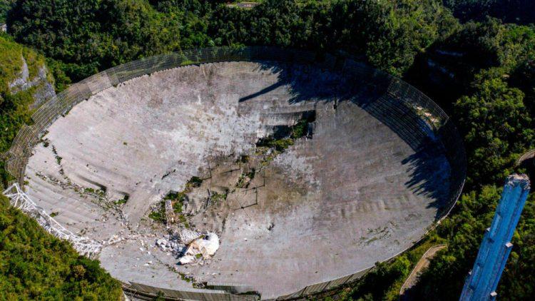 El mítico telescopio Arecibo ha colapsado después de 57 años de servicio
