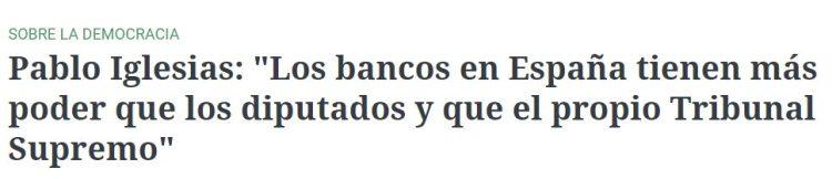 Pablo Iglesias se prepara para ser banquero
