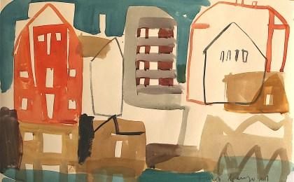 Ramallosa de Miñor/    Acuarela sobre papel/    35×51 cm/    2011