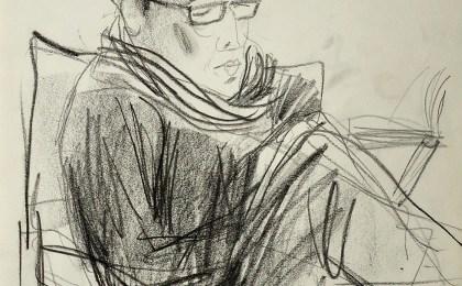 Paco cerca de Corrubedo /  Lapis sobre papel /  42×29 cm / 2007