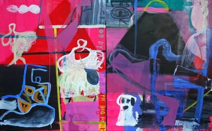 The Big Pink. Díptico / Óleo sobre tela / 101×164 cm / 2009