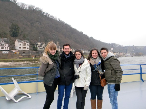 The freezing five on the Rhine River!