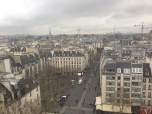 View of Paris from the Pompidou Centre