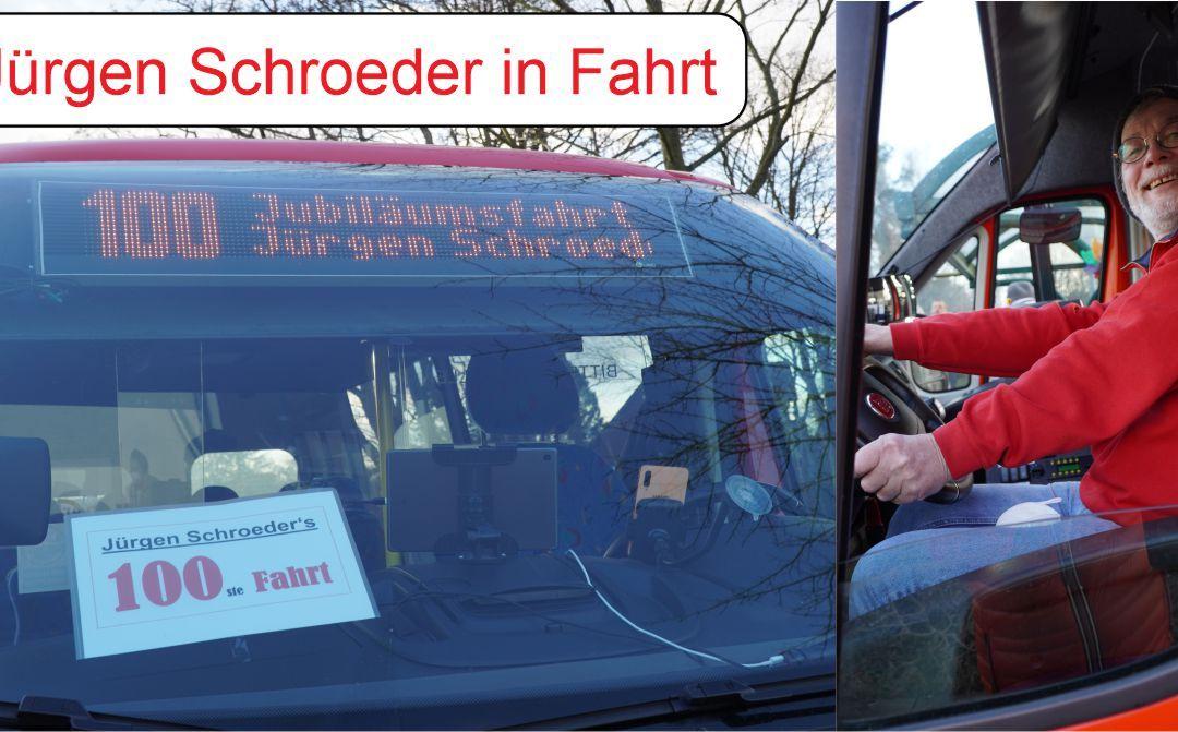 100ste Fahrt von Jürgen Schroeder