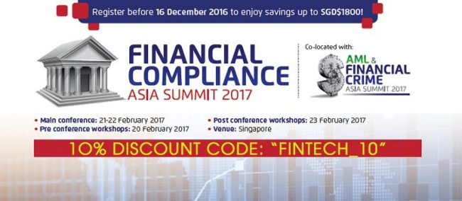 "Special Offer: 10% Off With Code ""FINTECH_10"". Register NOW!"
