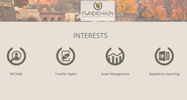 Fundchain Unveils First Insight of Blockchain Proof-Of-Concept for the Investments Funds Industry: The Smart TA