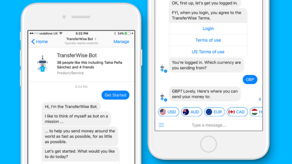 TransferWise launches Facebook Messenger bot for easy global money transfers