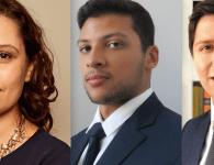 Débora Santos da Cunha, Luiz Felipe Lima e Vicente Piccoli M. Braga, sócios do FAS Advogados