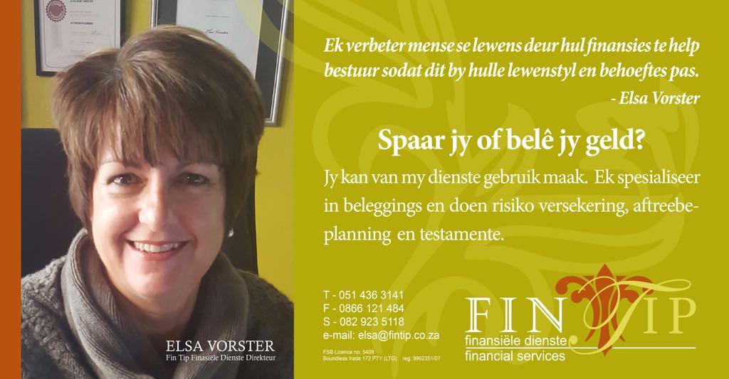 Elsa Vorster Finacial Planner Fintip