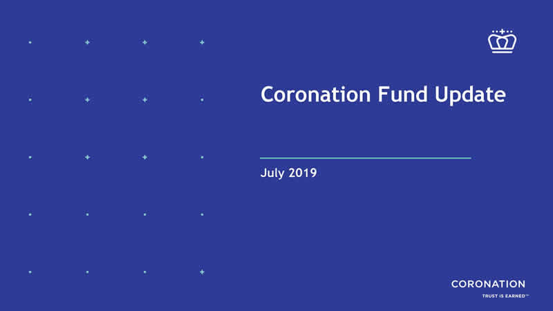 Coronation Fund Update