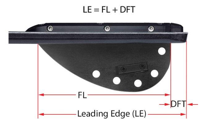 fin leading edge vs length