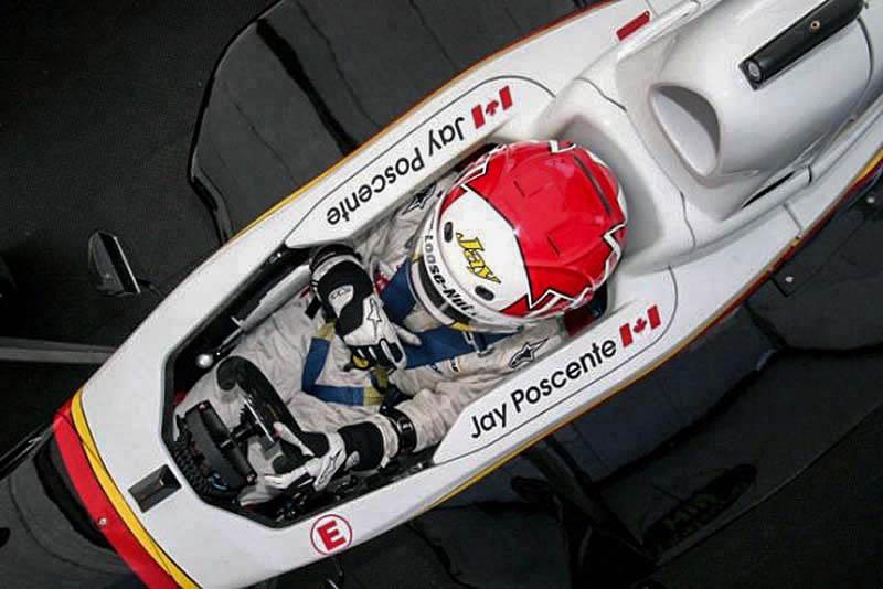 tight confines of a formula car