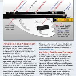 WhisperFin PRO water ski fin installation insert