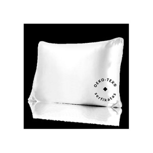 Lecler white silk pillow case