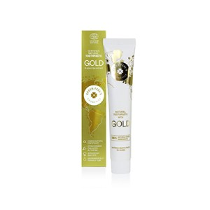 natural toothpaste with gold