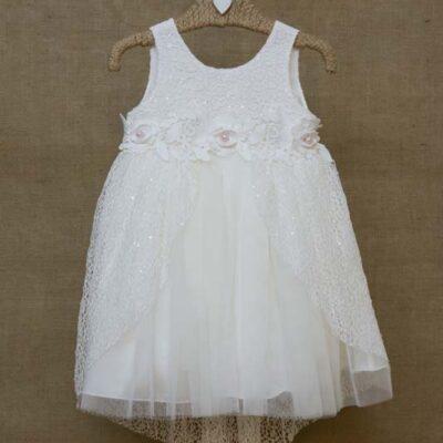 Βαπτιστικό φόρεμα με δαντέλα Ιταλίας