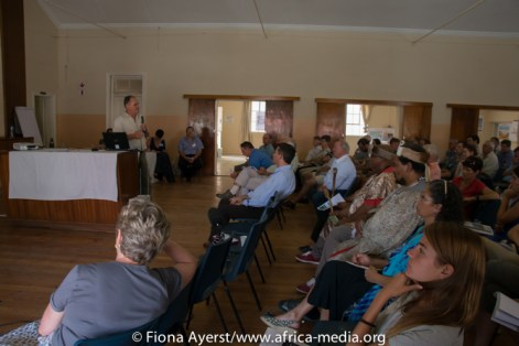 The Pearston town hall was full