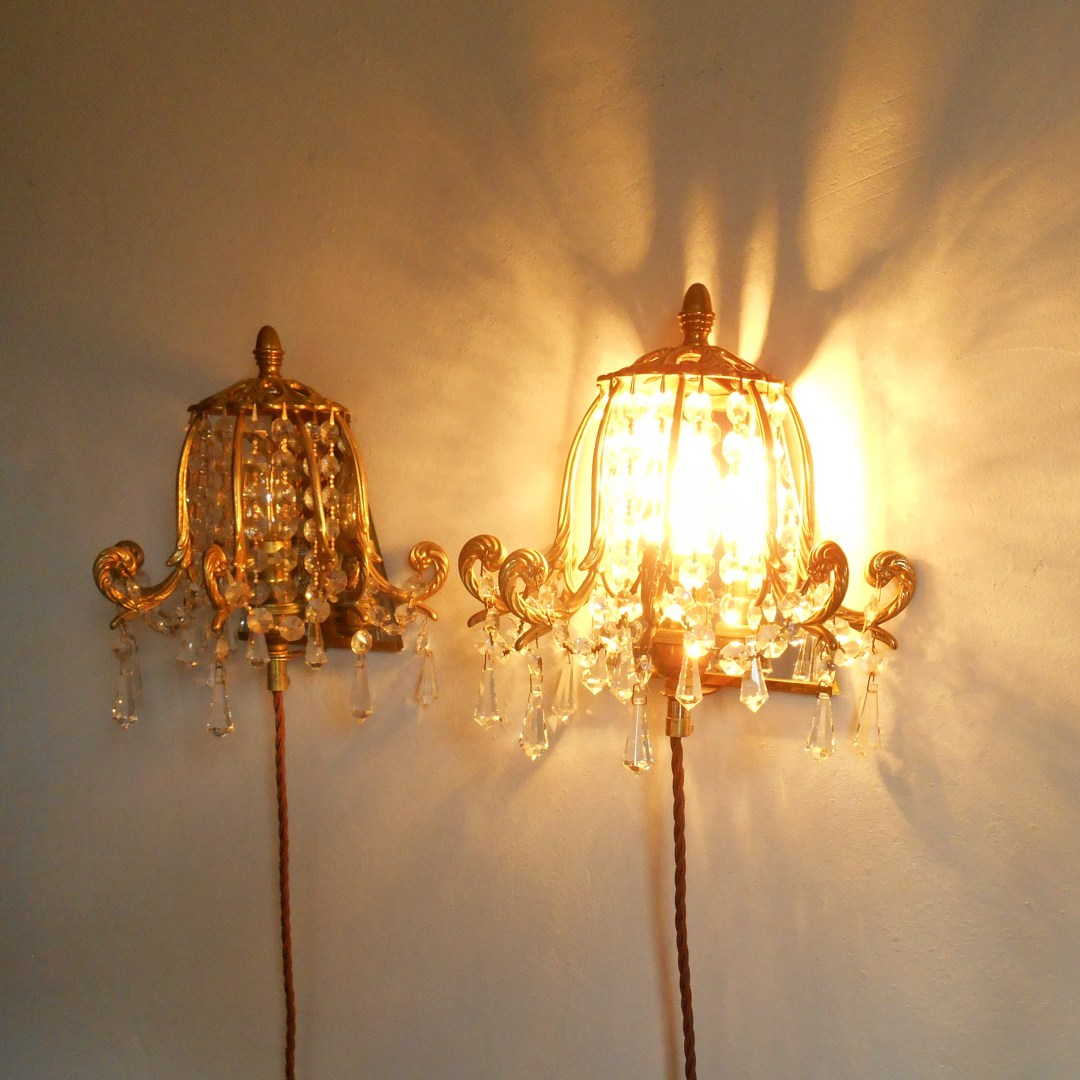 Chandelier wall sconces by Fiona Bradshaw Designs