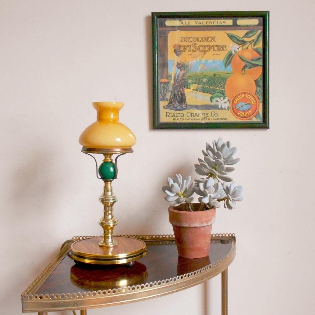Mid century lamp by Fiona Bradshaw Designs