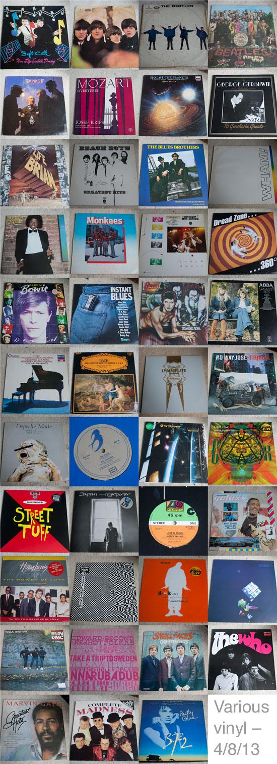 Vinyl Contact Sheet