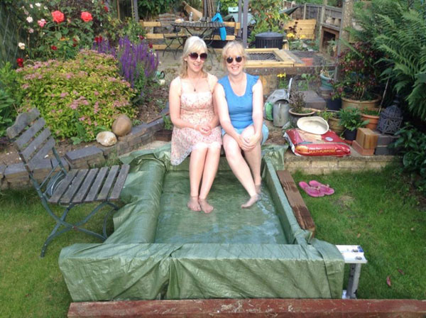 homemade paddling pool