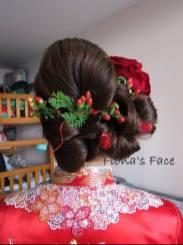 bridal hairdo by Fiona