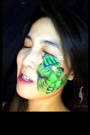 HK face & body painting artist fiona - marvel heros