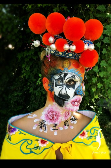 Face painting by HK artist Fiona Lam - Top 10 in World Award Face Painting Competition