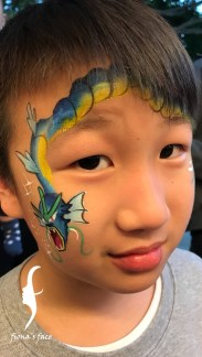 HK face & body painting artist fiona - Pokemon