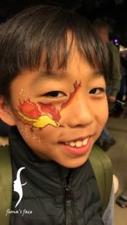 HK face & body painting artist fiona - Pokemon