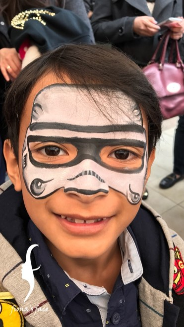 HK face & body painting artist fiona - star war