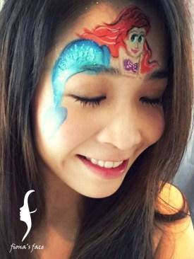 HK face & body painting artist fiona - mermaid