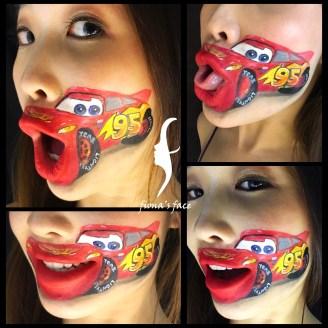 Original face design by HK face & body painting artist fiona - Car!