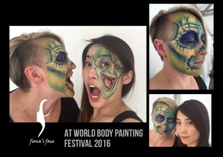 Creepy face paint with Columbian artist Miguel Angel