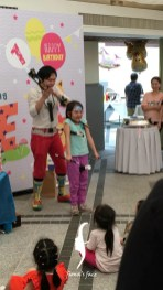 Enjoyed the magic show by Fiona's partner Big Clown with the wonderful facepaint!