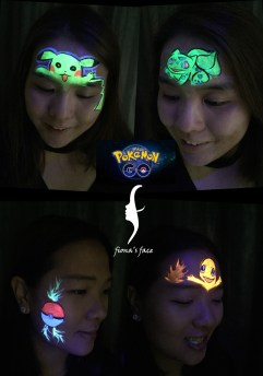 HK face painting artist fiona - Pokemon