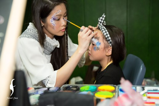 Fiona's face painting team - Angel