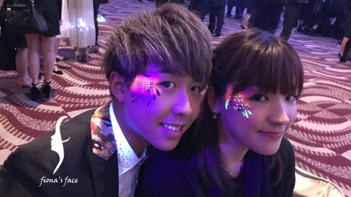UV glow face painting in annual dinner