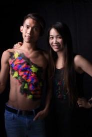 Idea & Artist: Fiona & Devil Graffiti; Model: Kenneth Shum; Photos by Chan Pang Photography & Fiona