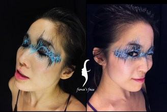 HK face & body painting artist fiona - EDM