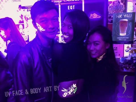 UV Face/body art by Fiona & Angel
