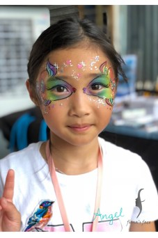 HK face painting with sea theme by fiona's face